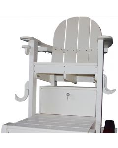 White Lifeguard Chair Lock Box On White Lifeguard Chair