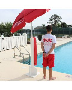 Back of the Stand Up Lifeguard Station