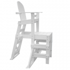Side of the MLG 520 - Everondack® Medium Lifeguard Chair with Side Step in White