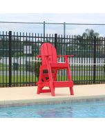 Front of the Everondack® Lifeguard Chair - LG 505 Red